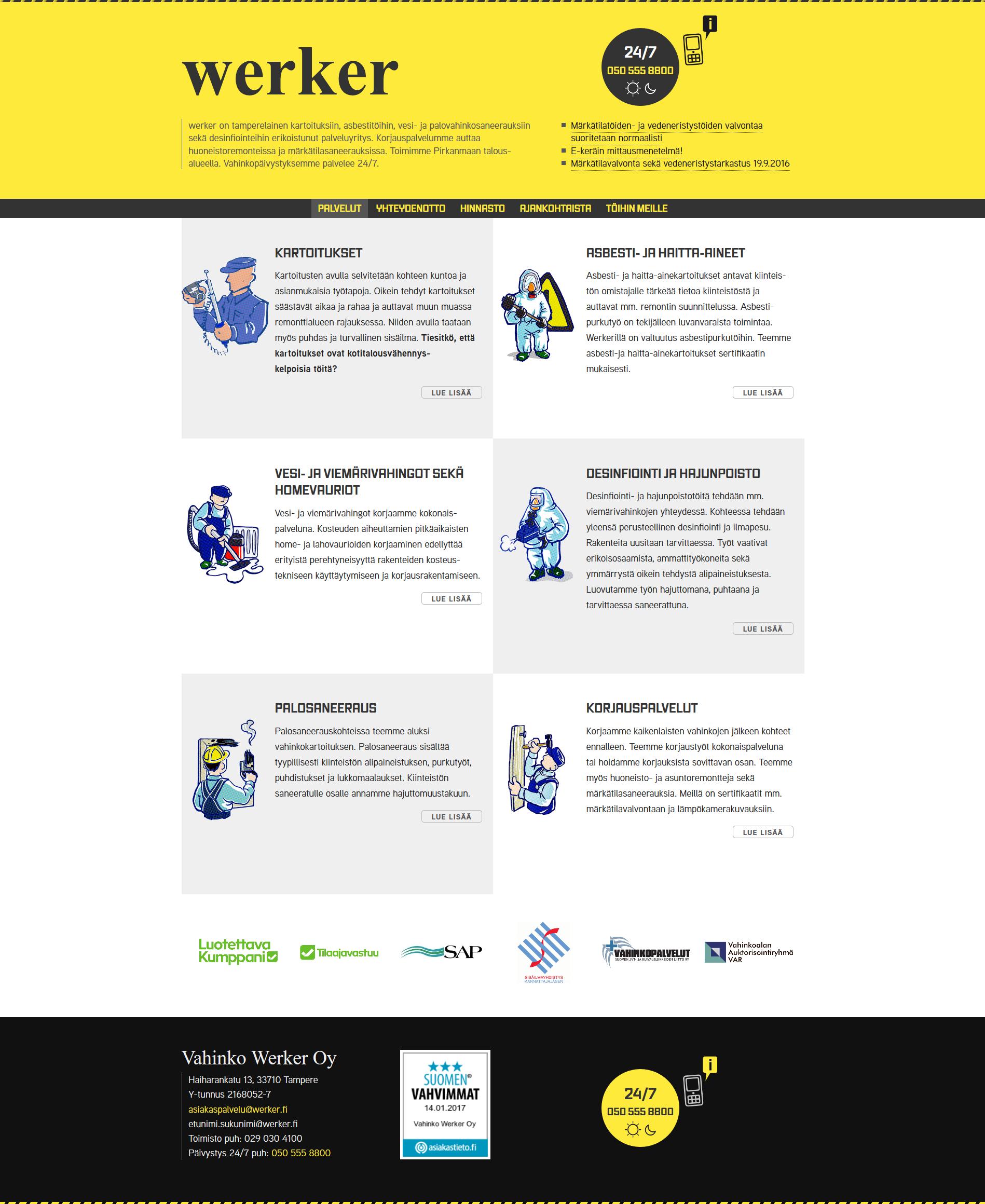 WERKER.FI - новый дизайн для финской компании